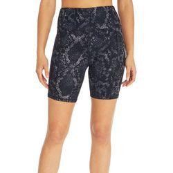 Jessica Simpson Womens Snake Skin Printed Biker Shorts