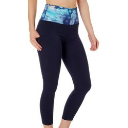 Marika Womens Tie Dye Trim Side Pocket Leggings