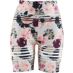 Jessica Simpson Womens Floral and Striped Bike Shorts