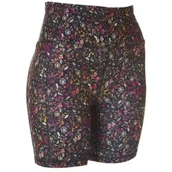 Jessica Simpson Womens Floral High Waisted Bike Shorts