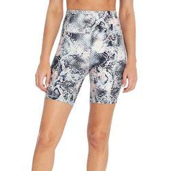 Womens Snakeskin Print Shorts