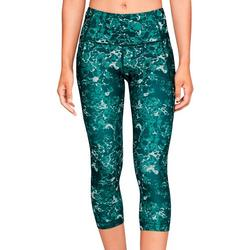 Womens HeatGear Marble & Mesh Capri Leggings