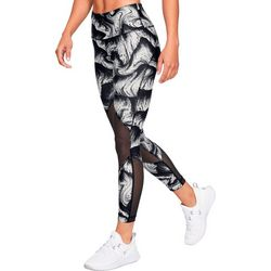 Under Armour Womens HeatGear Mesh Accent Ankle Crop Leggings