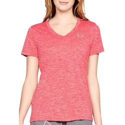Womens Tech Twist Space Dyed V-Neck T-Shirt