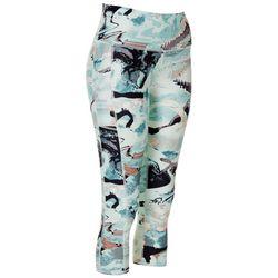 Womens Seaglass Printed Capri Leggings