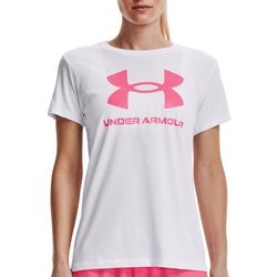 Under Armour Womens Logo Print Round Neck Shirt
