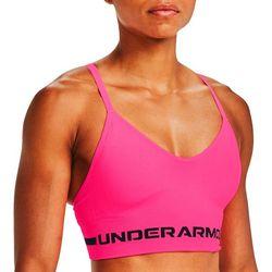 Womens Seamless Longline Solid Sports Bra