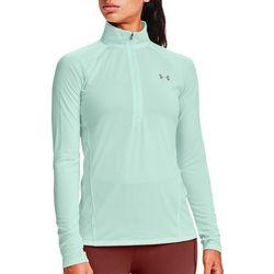 Womens UA Heat Gear 1/2 Zip Long Sleeve Top