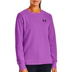 Womens UA Rival Fleece Crew Neck Sweatshirt
