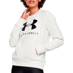 Womens UA Fleece Logo Crew Neck Sweatshirt