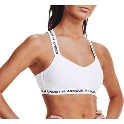 Under Armour Womens Seamless Criss Cross Solid Sports Bra