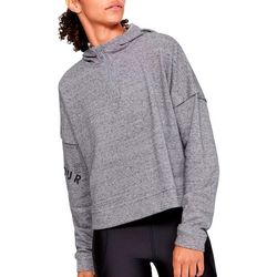 Under Armour Womens UA Rival Heathered Fleece Logo Hoodie