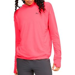 Under Armour Womens Sun Amour Logo Hoodie Pull Over Top