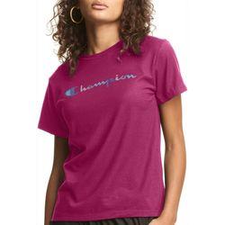 Champion Womens Classic Graphic MagentaT-Shirt