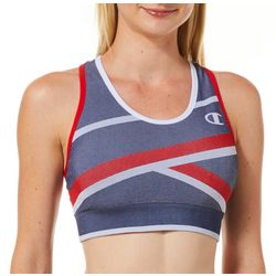 Champion Womens The Infinity Asymmetrical Stripe Sports Bra