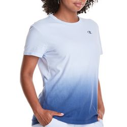 Champion Womens Crew Neck Ombre Print T-Shirt