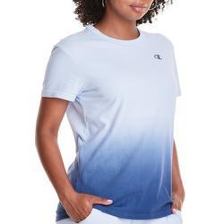 Womens Crew Neck Ombre Print T-Shirt