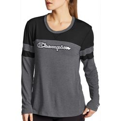 Champion Womens Graphic & Mesh Long Sleeve T-Shirt