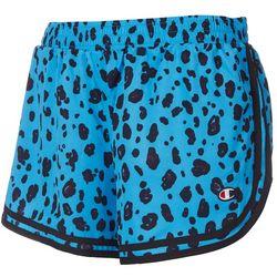 Champion Womens Animal Print Stripe Hem Varsity Shorts