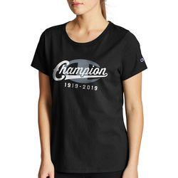 Champion Womens Logo Anniversary Print Short Sleeve T-Shirt