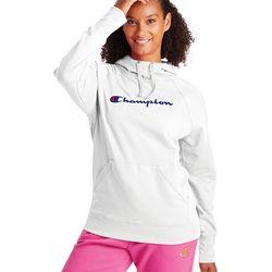 Champion Womens Powerblend Graphic Hooded Sweatshirt