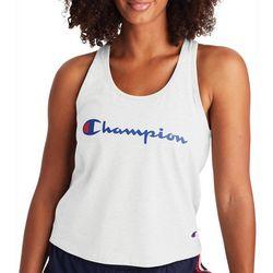 Champion Womens Solid Logo  Racerback Tank Top