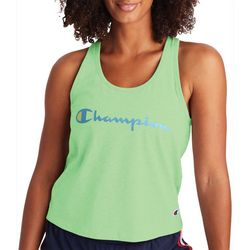 Champion Womens Solid Logo  Racerback Tank Top
