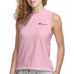 Champion Womens Small Logo Crew Muscle Tank Top