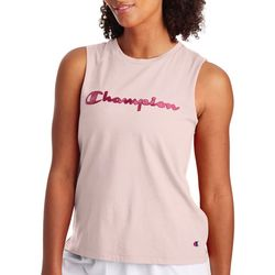 Champion Womens Sport Metallic Logo Muscle Tank Top