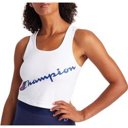Champion Womens Authentic Logo Cropped Tank Top