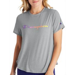 Champion Womens Solid Gradient Logo Screen Print T-Shirt