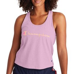 Champion Womens Logo Heathered Racerback Tank Top