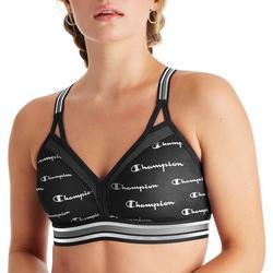 Womens Curvy X-Back Logo Sports Bra