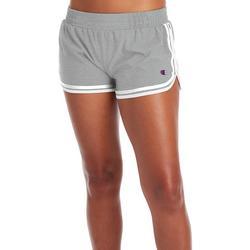 Womens Heathered Stripe Hem Varsity Shorts