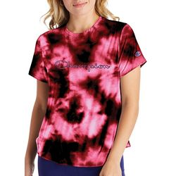 Champion Womens Tie-Dye Logo Screen Print T-Shirt
