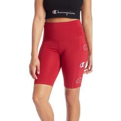 Womens Solid Logo Bike Shorts