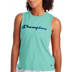 Womens Sport Script Logo Tank Top