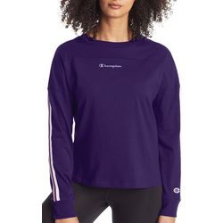 Champion Womens Campus Sleeve Stripe Long Sleeve T-Shirt