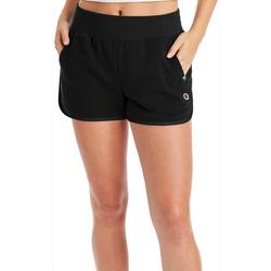 Womens Solid French Terry Shorts