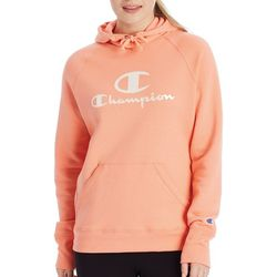 Champion Womens Powerblend Graphic Hooded Sweatshirt
