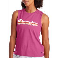 Womens Sport Logo Muscle Tank Top