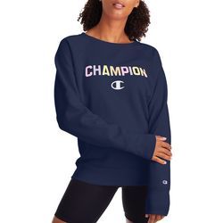Champion Womens Powerblend Graphic Long Sleeve Sweatshirt