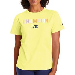 Champion Womens Classic Graphic Pop Color Logo T-Shirt