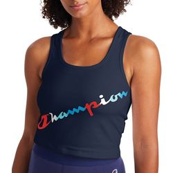 Champion Womens Cropped Logo Tank Top