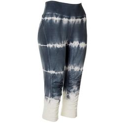 FUDA Womens Solid Athletic Drawstring Tie Dye Capri Pants