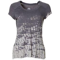 Brisas Womens Printed Cap Sleeve T-Shirt