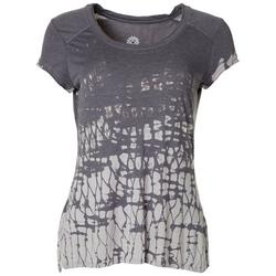 Womens Printed Cap Sleeve T-Shirt
