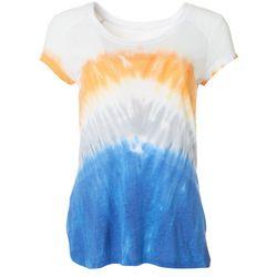 FUDA Womens Tie-Dye V-Neck T-Shirt