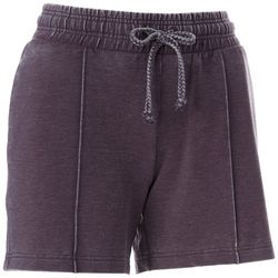 Brisas Womens Solid Mineral Wash Drawstring Shorts