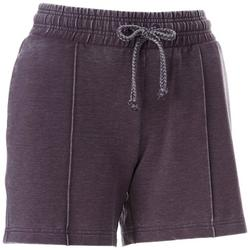 Womens Solid Mineral Wash Drawstring Shorts